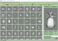 Showing thumbnails and a preview of 3D meshes.